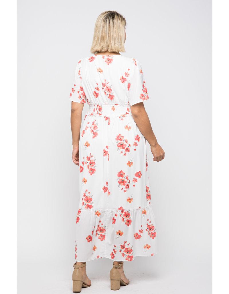 Wellmade Inc Floral Button Down Maxi Dress