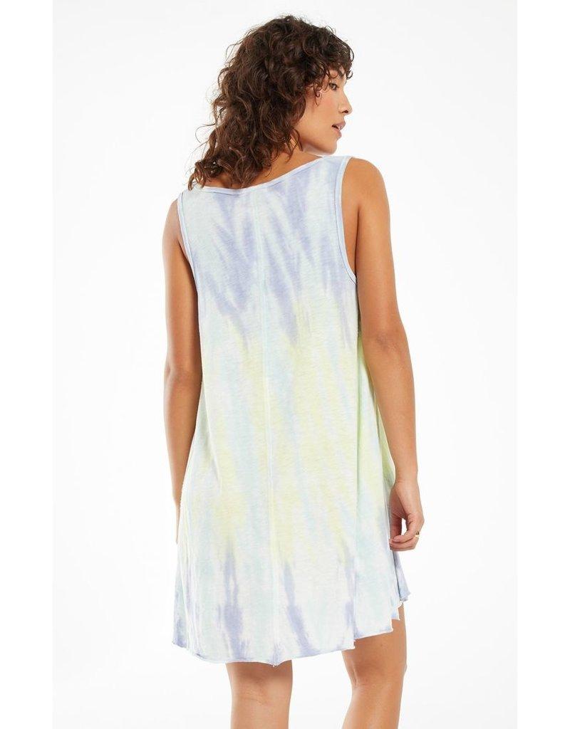 Z Supply Eva Sorbet Skies Tie-Dye Dress