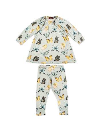 Milkbarn Bamboo LS Dress Set Butterfly