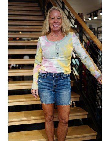Judy Blue High Waist Mid Thigh Shorts