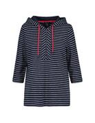 Tribal Sportswear 3/4 Slv Hooded Top