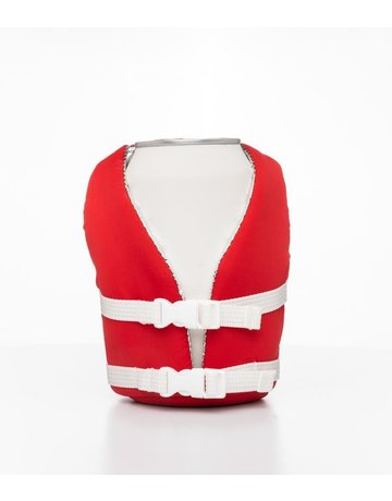 Puffin Coolers Flag Red Beverage Life Vest