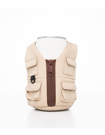 Puffin Coolers Classic Tan Beverage Adventure Vest