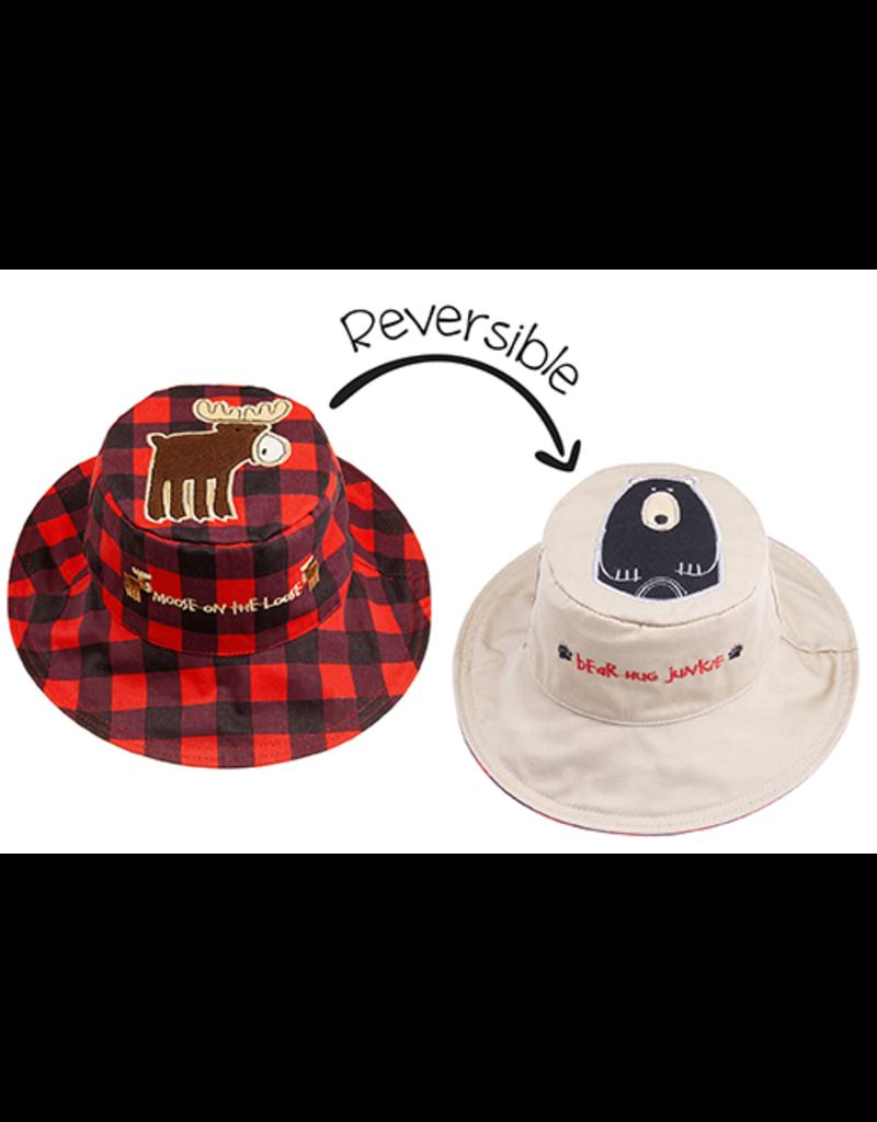FlapJackKids Moose/Bear Sun Hat