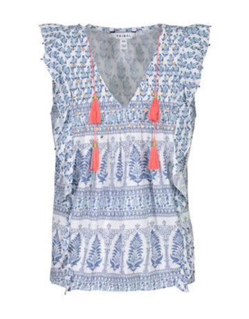 Tribal Sportswear Slvls Vneck Blouse w/Sequins