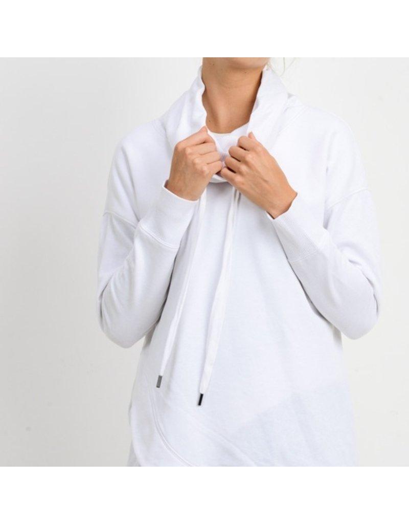Mono B Cowl Neck Overlay Sweater