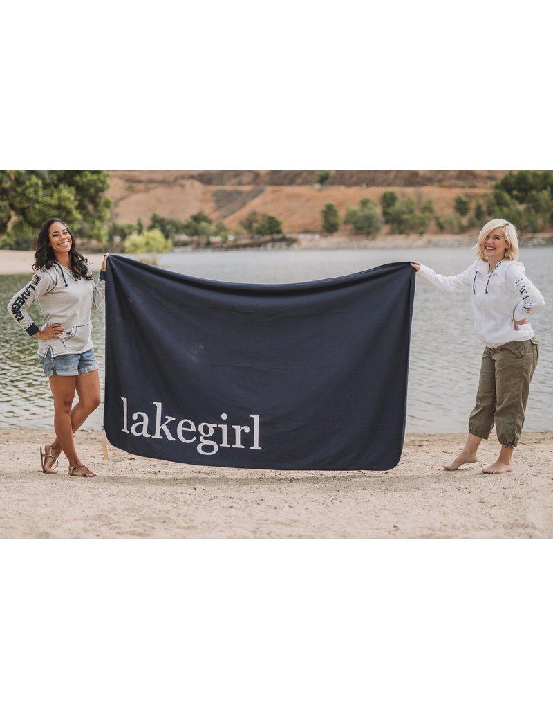 lakegirl Navy Fleece Blanket