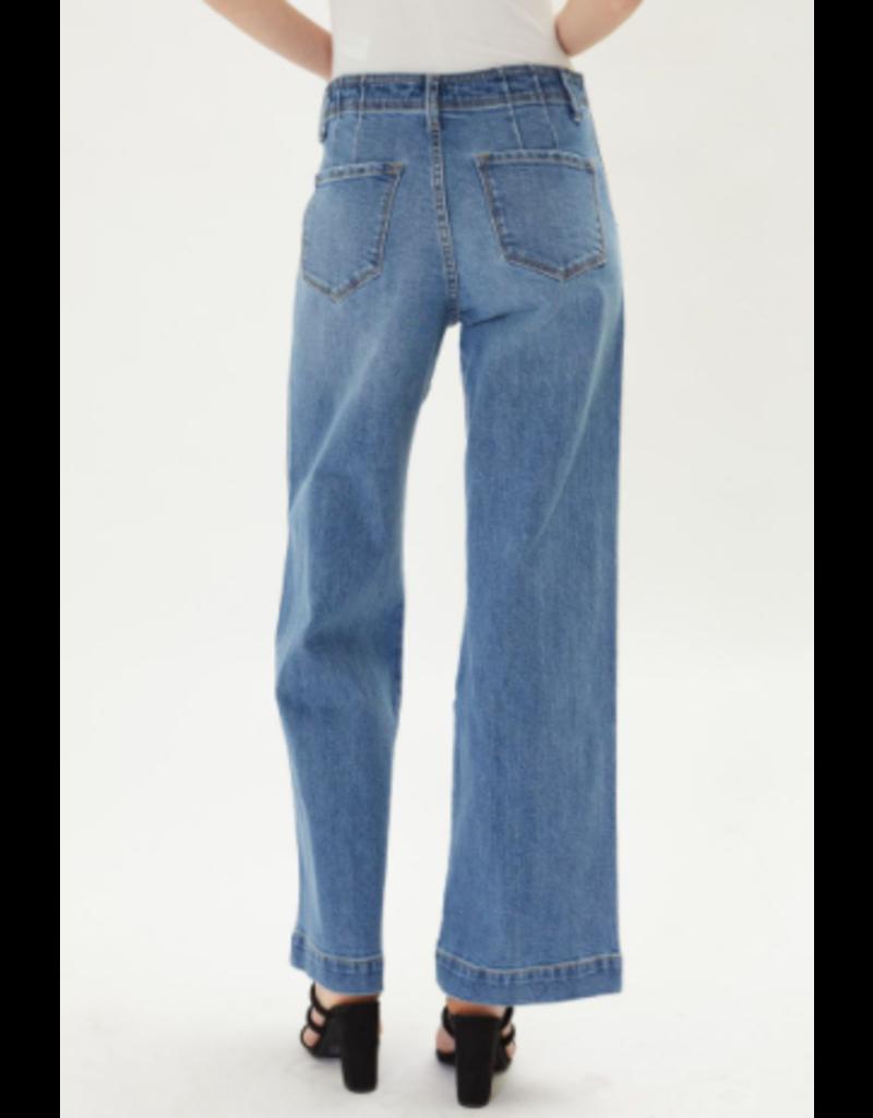 KanCan High Rise Wide Leg Jean