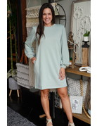 She & Sky Long Balloon Sleeve Knit Dress
