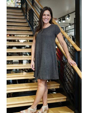 She & Sky SS Dyed Ribbed Knit Dress