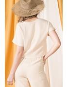 VeryJ Linen Crop Top
