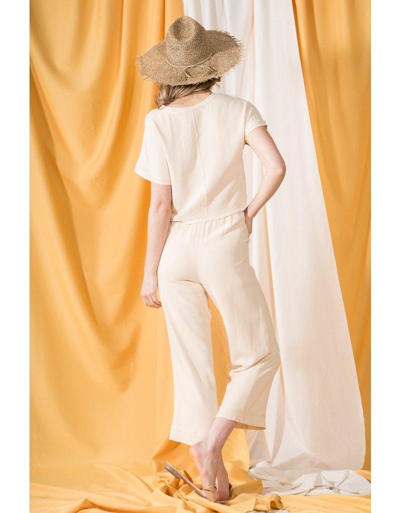 VeryJ Linen Paperbag Pants