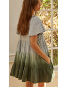 By Together Gauze Ombre SS Babydoll Dress