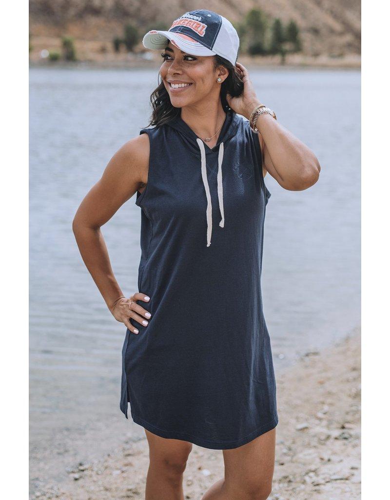 lakegirl Hooded Dress Crossed Paddl