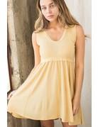 Wellmade Inc Waffle Knit Slvls Tunic Dress