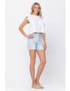 Judy Blue Hi-Waist Bleach Cut Off Shorts