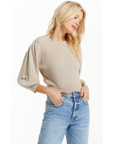 Z Supply Joelle Puff Sleeve Rib Sweater