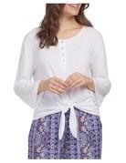 Tribal Sportswear Henley w/Front Tie