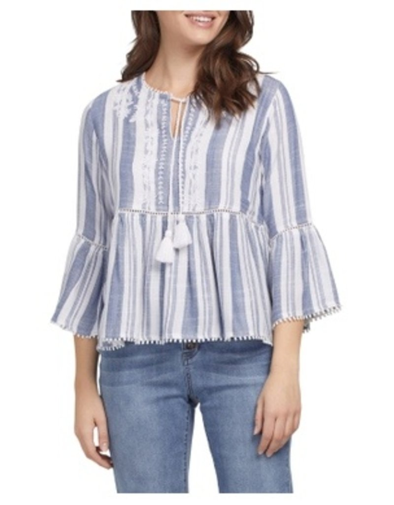 Tribal Sportswear 3/4 Slv Embroidered  Blouse