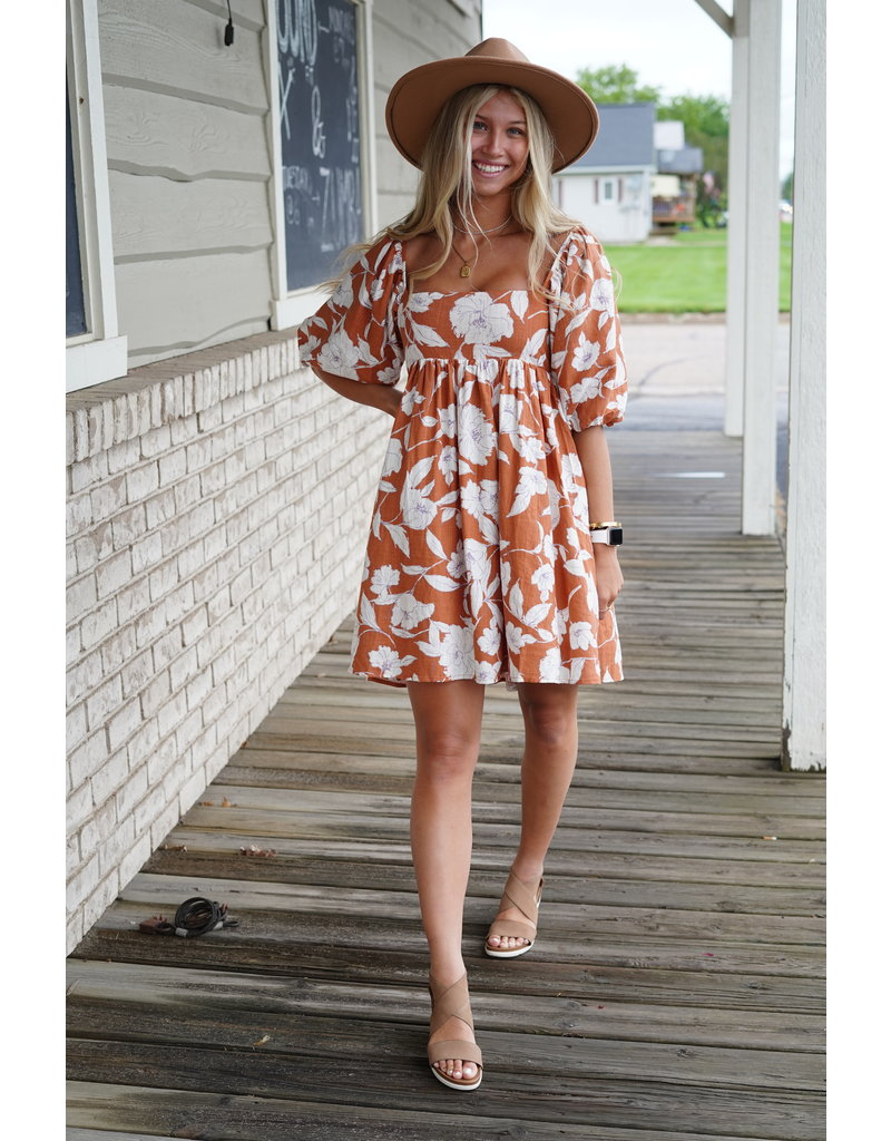 By Together Puff Sleeve Dress