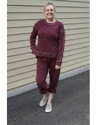 Hem & Thread Soft Side Slit Sweatpants