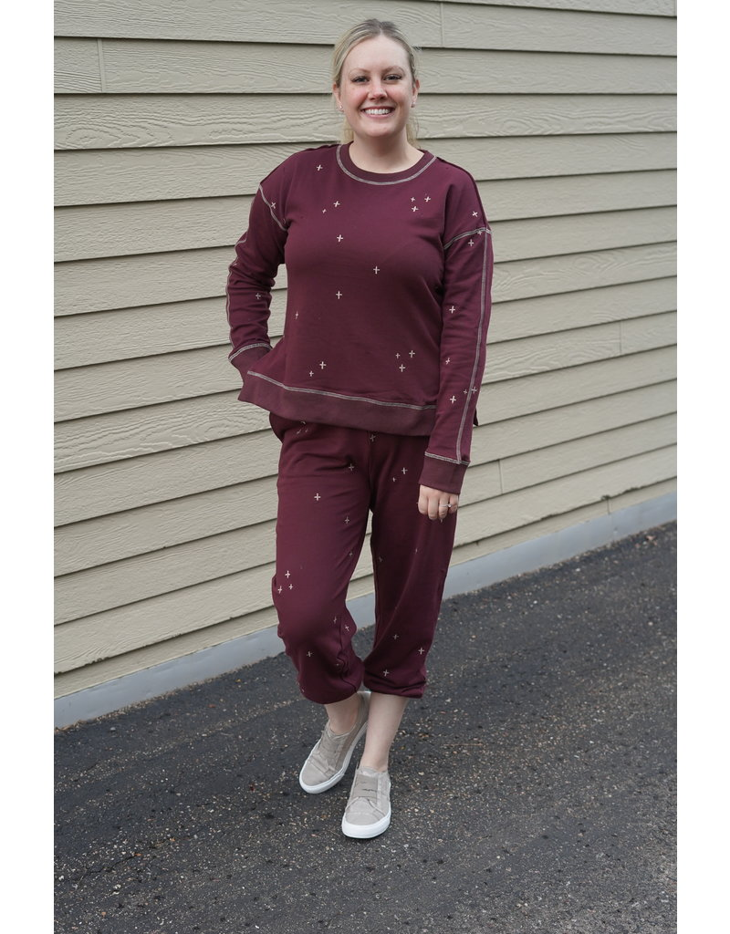 Hem & Thread Soft Side Slit Sweatshirt