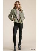 Umgee USA Zip Up Jacket w/Side Slits