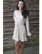 Wellmade Inc Mini Knit Dress w/Ruffle Hem