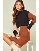 Savanna Jane Color Block Knit Sweater Dress