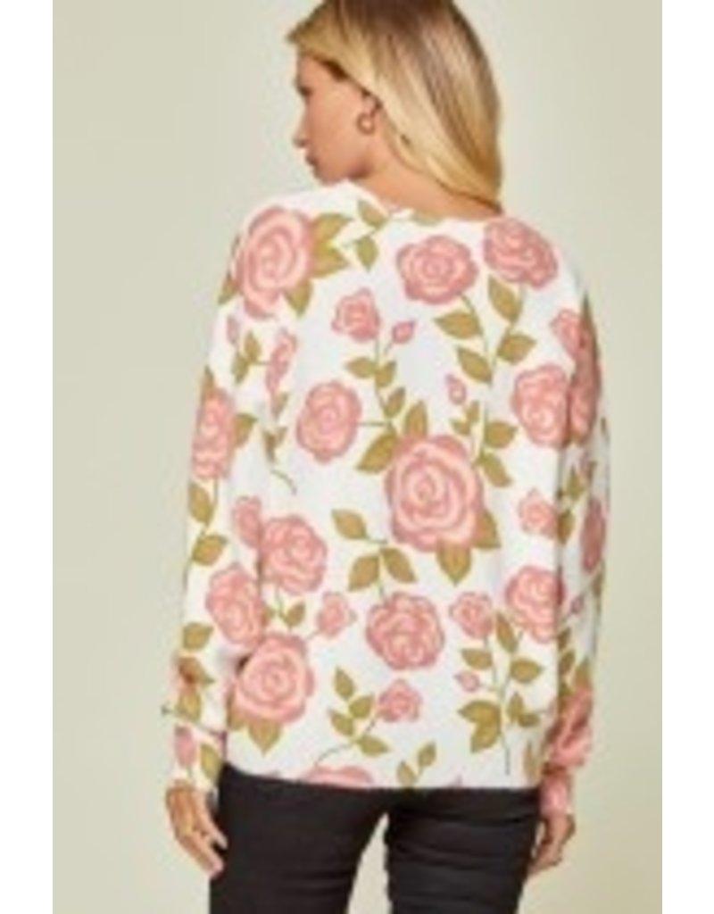Savanna Jane Floral Round Neck Sweater