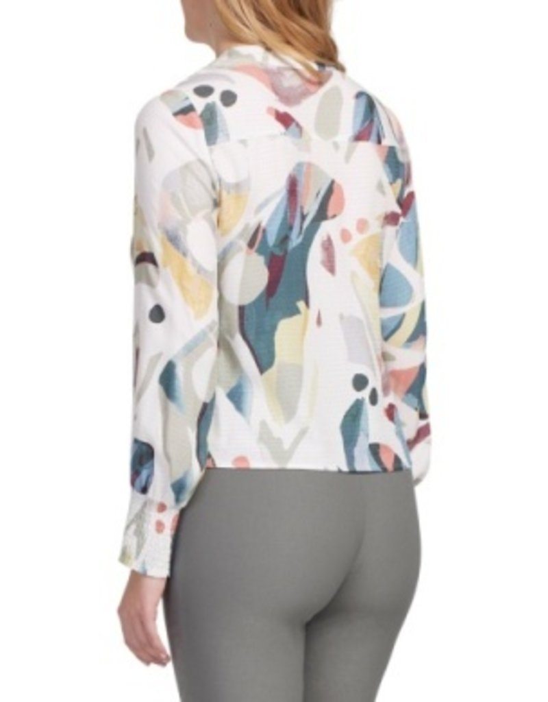Tribal Sportswear LS Blouse w/Front Tie