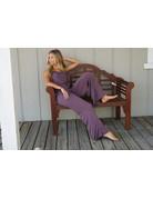By Together Knit Modal Vneck Wide Leg Jumpsuit