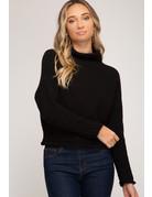 She & Sky LS Turtleneck Sweater Top