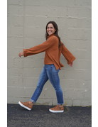 She & Sky LS Cuff Turtle Neck Thermal Top