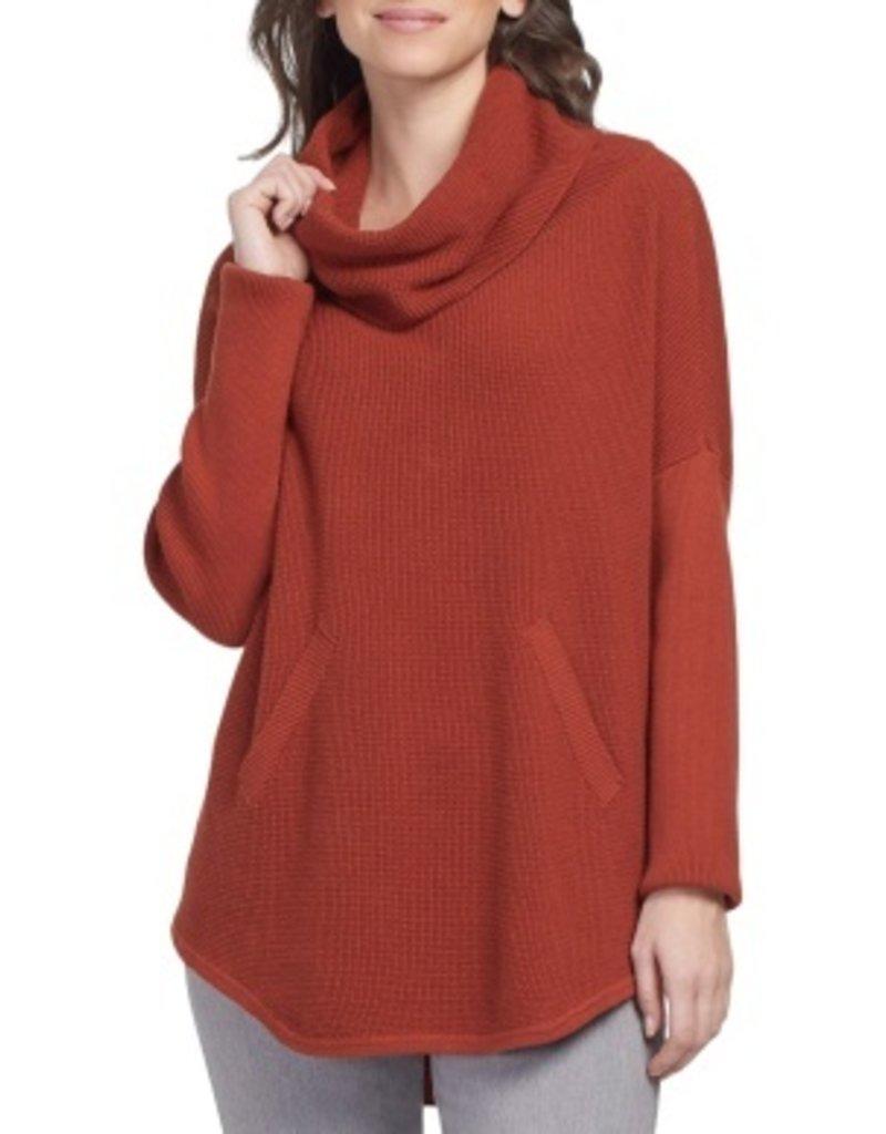 Ls Cowl Neck Sweater