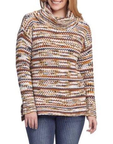 Tribal Sportswear LS Crew Neck Ombre Sweater