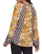 Tribal Sportswear LS Raglan Blouse w/Mix Print