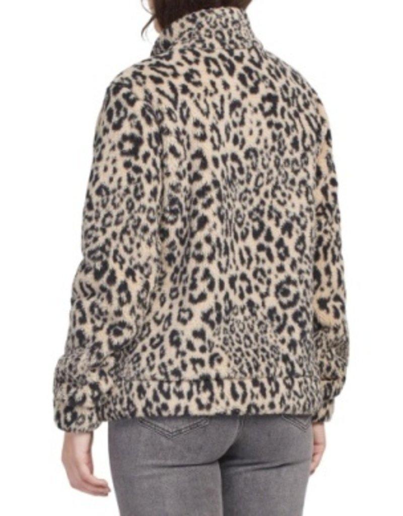 Tribal Sportswear Mock Neck Zip Up Jacket
