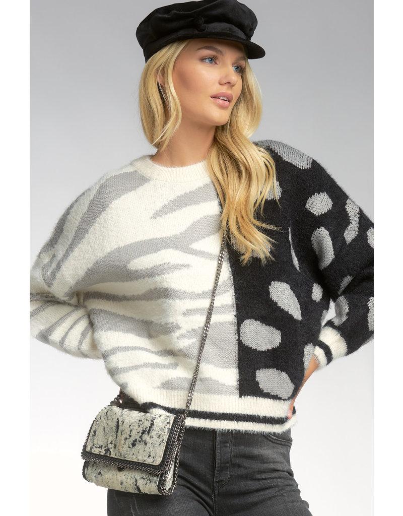 Color Block Spots Sweater