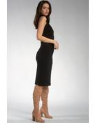 Mock Neck Midi Dress