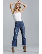 Umgee USA High Rise Stretch Flare Jeans
