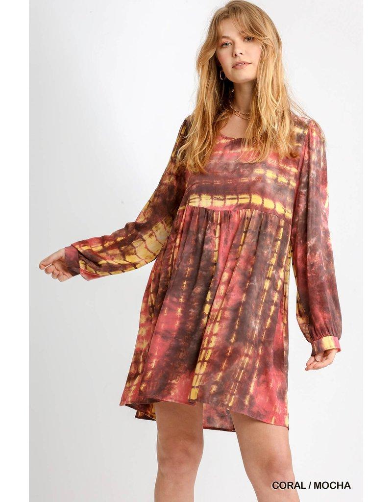 Umgee USA Shibori LS Tie Dye Dress