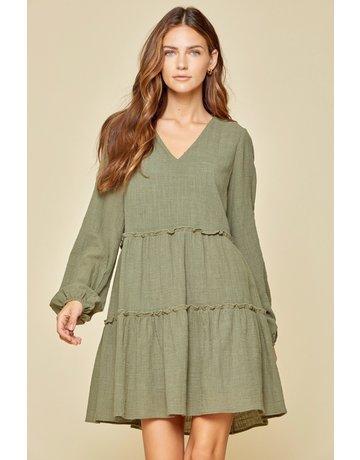Savanna Jane LS Vneck Dress