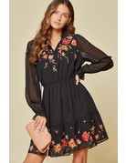 Savanna Jane Embroidered LS Dress