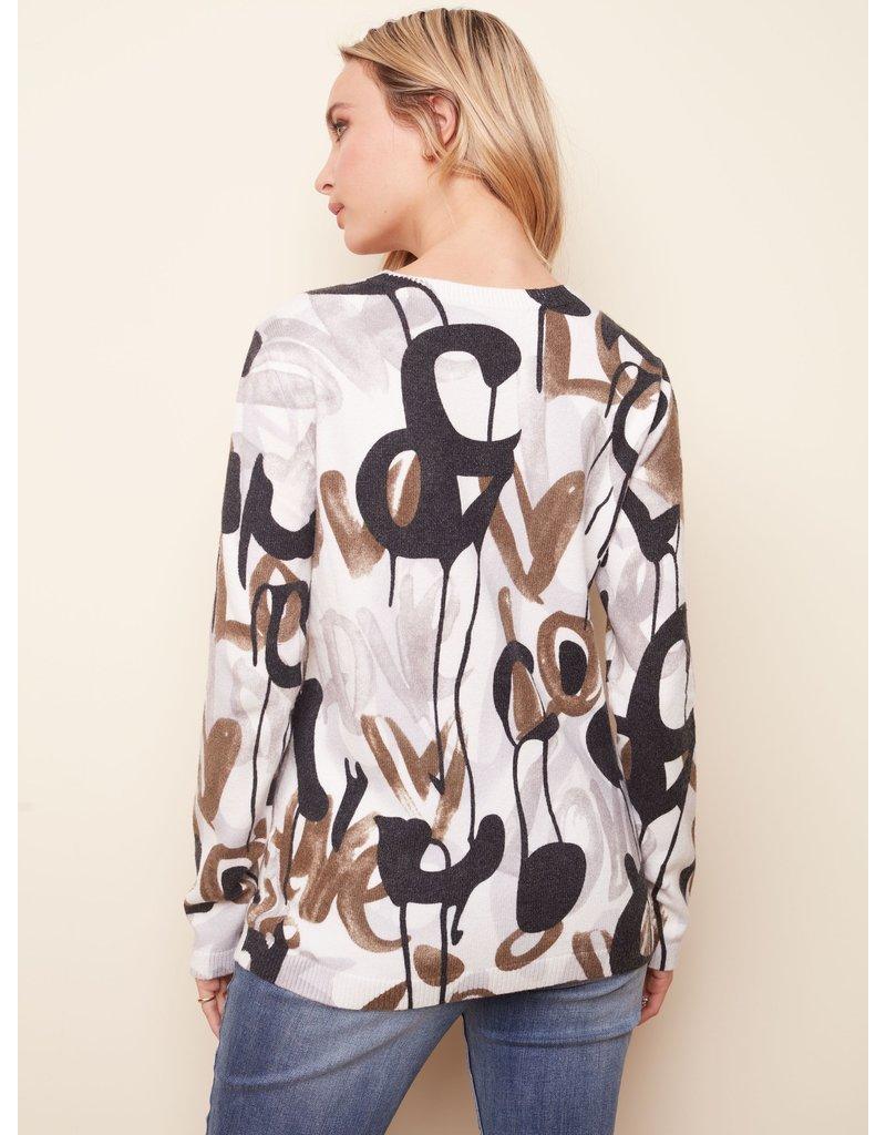 LS Crew Neck Printed Sweater