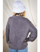 VeryJ Button Up Sweater