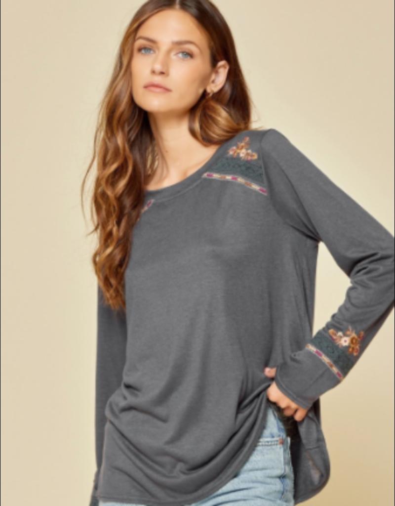 Savanna Jane Embroidered Knit Top