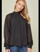 Savanna Jane Shimmer Sleeve Blouse