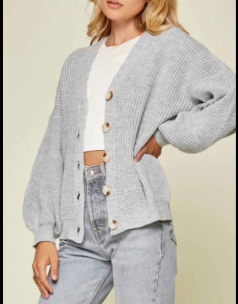 Savanna Jane Button Front Rib Sweater