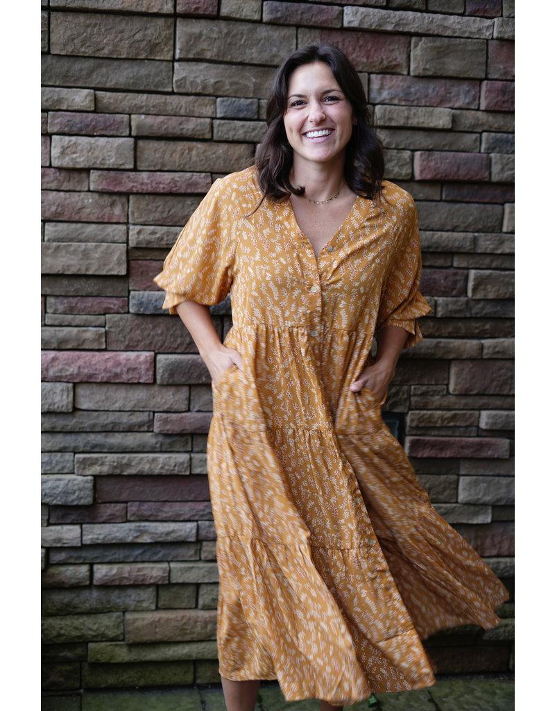 Wellmade Inc Button Up Floral Maxi Dress
